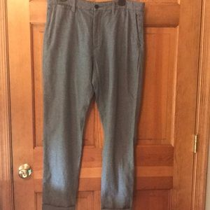 Men's H&M gray cotton chinos with cuffs